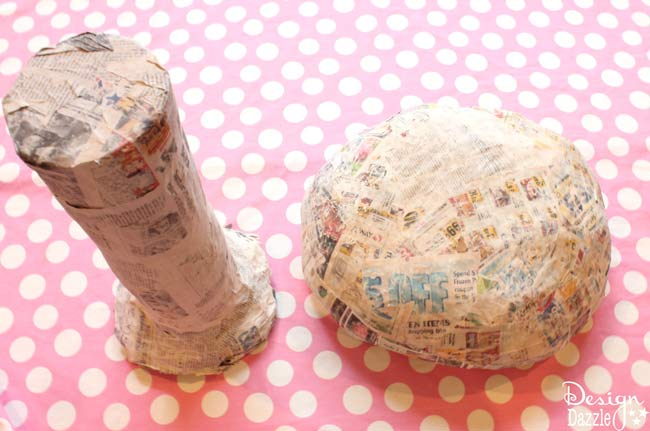 tutorial to make a giant toadstool - Design Dazzle