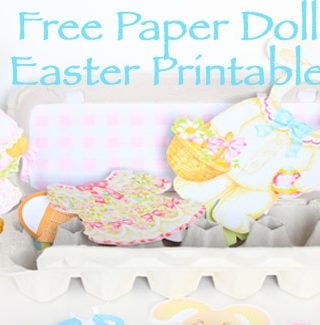 Easter Egg Carton Paper Doll Kit: Free Paper Doll Printables