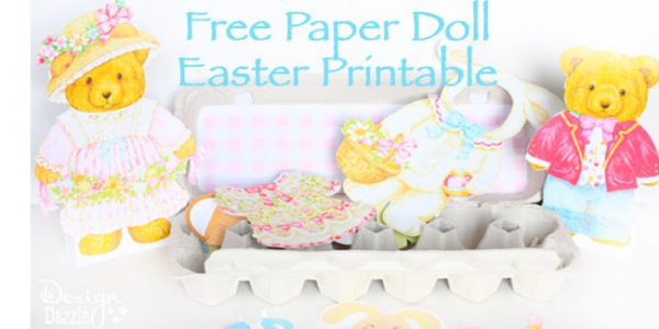 Free paper doll Easter printable - Design Dazzle #freeprintable #easterprintable #paperdolls