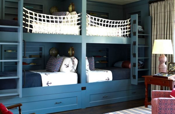 Awesome Blue nautical bunk beds
