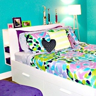 Vibrant Teen Girl Room
