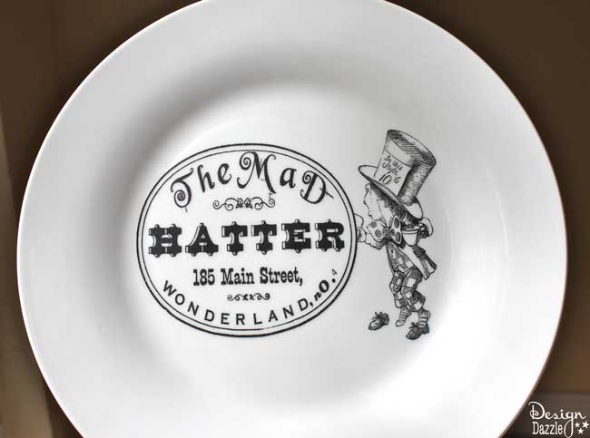 Dollar Store Plate and Special Paper Make A Designer Plate - Design Dazzle