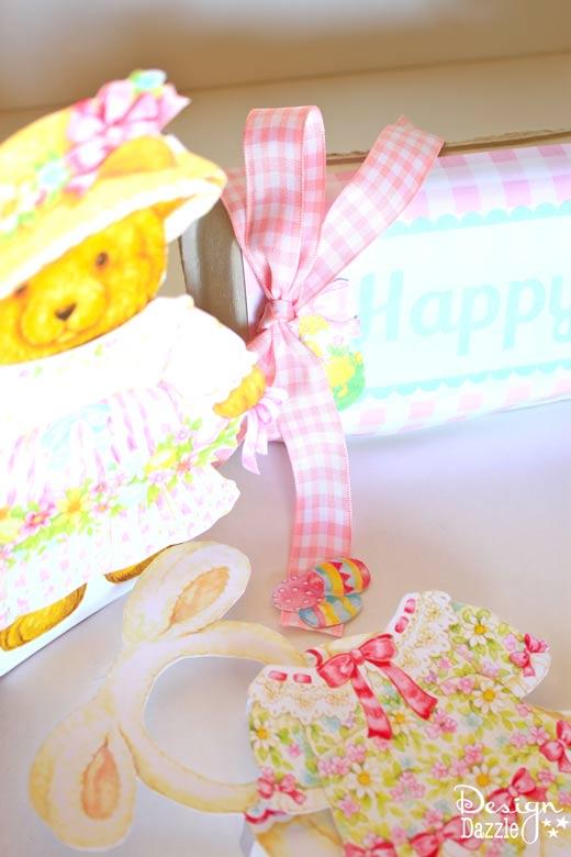 Free Easter Doll Printables Kit - Design Dazzle #easterprintable #eastercraft #paperdolls