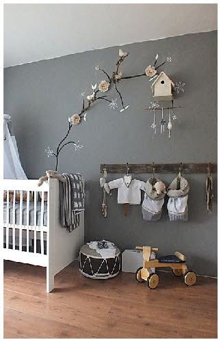 Grey Nursery Wall