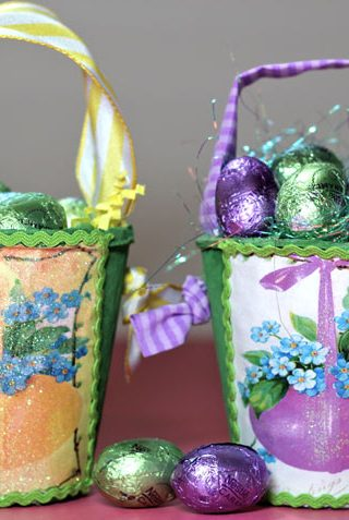 Easter Basket Made From Peat Pots