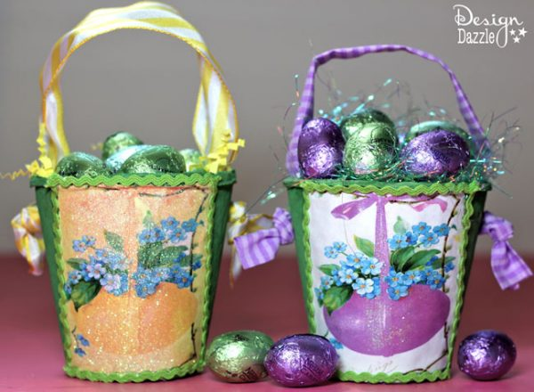 Easter Basket made our of a peat pot - Design Dazzle