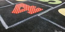 Decoupage a rug - Design Dazzle