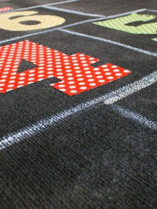 DIY Paint and Fabric Rug Makeover & Home Depot Giveaway