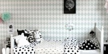danish modern girls room