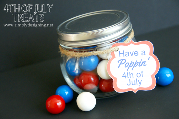 Super cute 4th of July Treat Idea with FREE Printable! | click to get the pintable and to see more | #4thofjuly #patriotic #crafts #redwhiteblue #printable