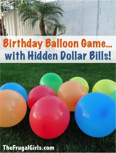 Money Balloon Birthday Game