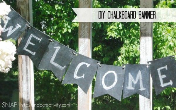 DIY Chalkboard Birthday Banner