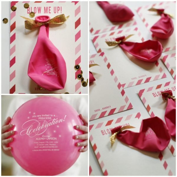 DIY Birthday Balloon Invitation