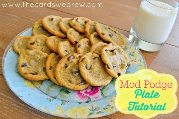 Easy Mod Podge Plate Tutorial