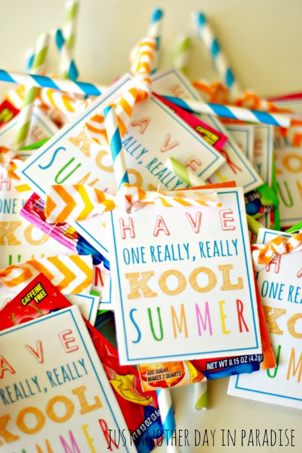 Have a Kool Summer tags for end of school gifts