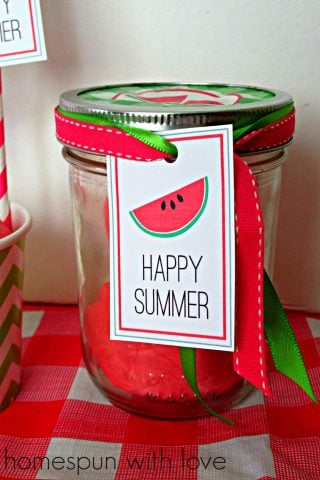 Happy Summer Watermelon Play Dough
