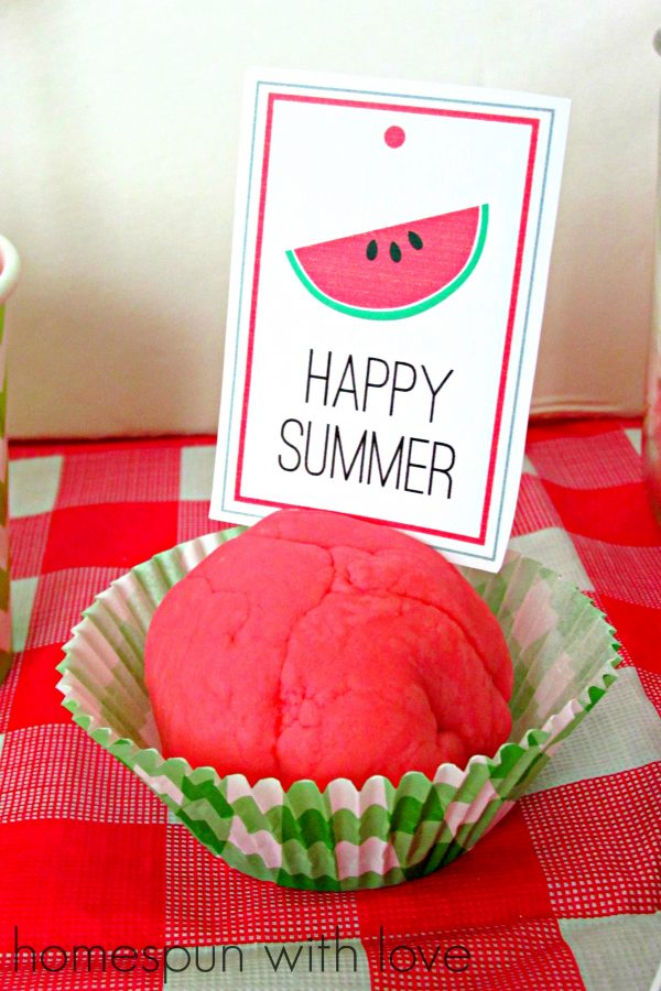 watermelon play dough