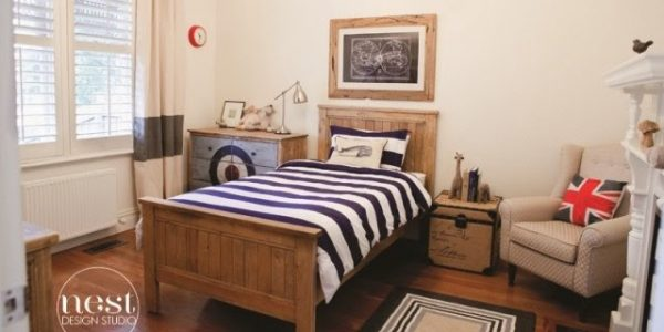 Classic Boys Room that is so adorable and chic! Loving the patterns!