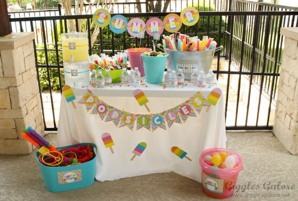 Summer Party Themes - Popsicle Party