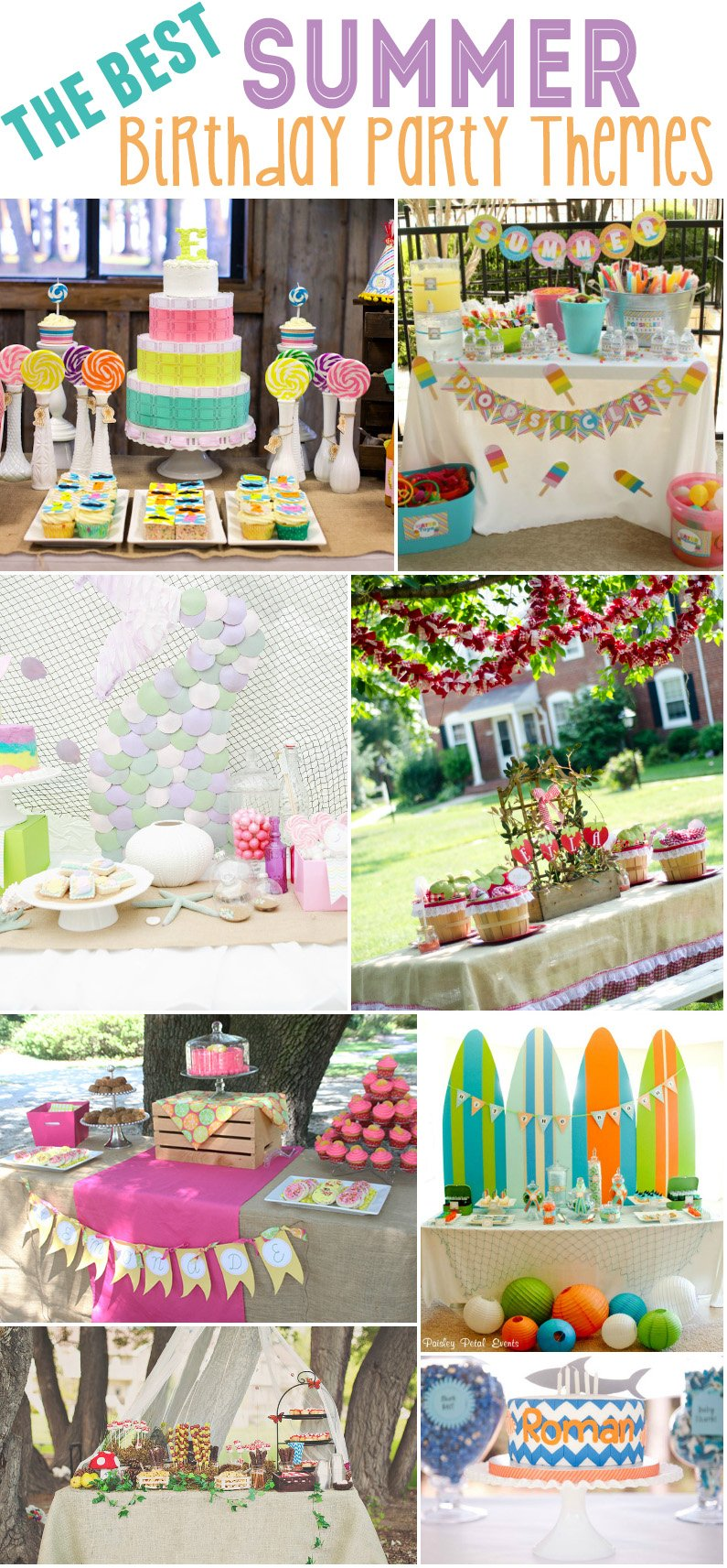 15 Best Summer Birthday Party Themes Design Dazzle