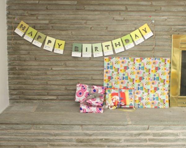 Pantone Color Postcard Birthday Banner