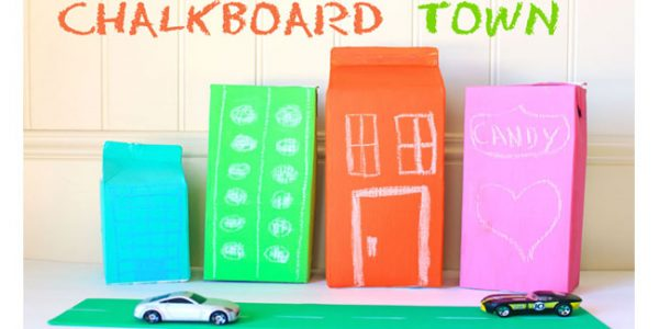 chalkboard town for kids - Design Dazzle