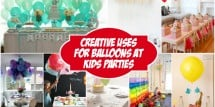 creative uses for balloons at kids parties feature image