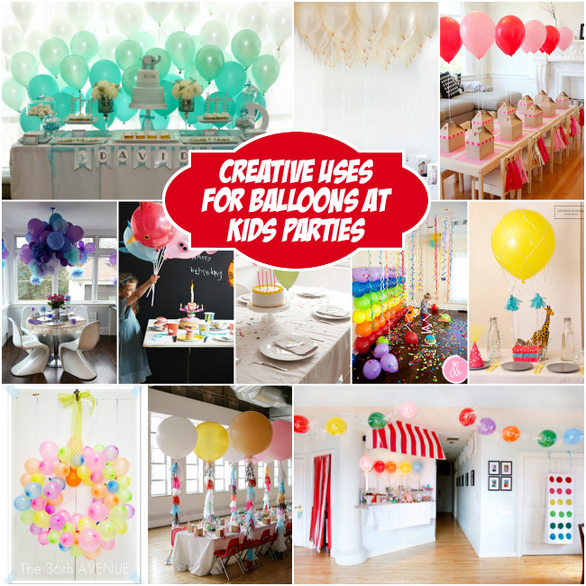 Creative Uses for Balloons at Kids Parties - Design Dazzle