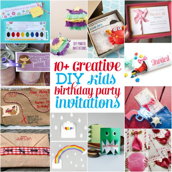 10 creative diy kids birthday party invitations design dazzle 10 creative diy kids birthday party invitations solutioingenieria Images