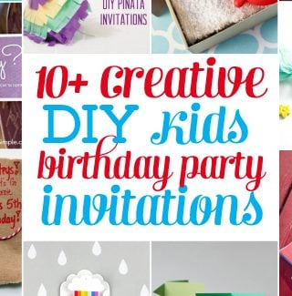 DIY kids birthday party invites