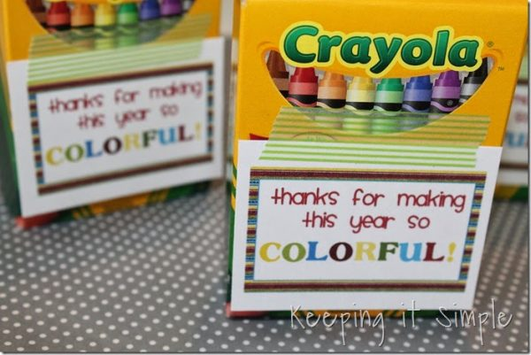 Colorful Year tags for End of School Year gifts