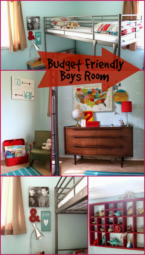 Boys room on a budget design dazzle Decorate a large wall cheaply