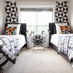 Black and White Contemporary Shared Boys Room