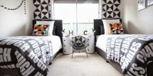 Black and White Shared Boys Room -- Design Dazzle