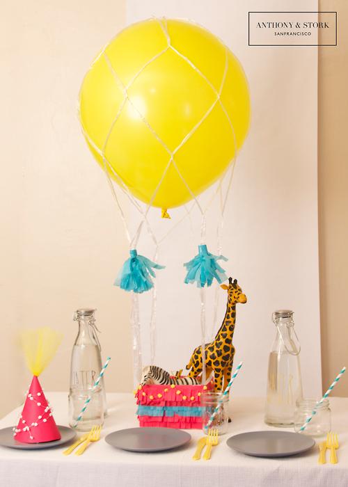 Hot Air Balloon Centerpiece