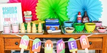 Ice Cream Bar with Summer Popsicle Banner