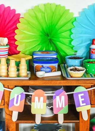 Ice Cream Bar + Summer Popsicle Banner