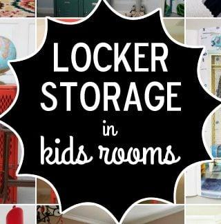 Locker Storage in Kids Rooms