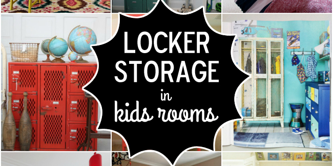 locker storage in kids rooms