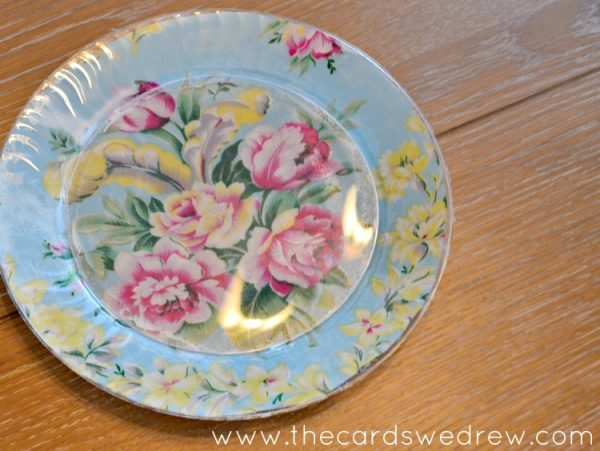 mod podge plate tutorial