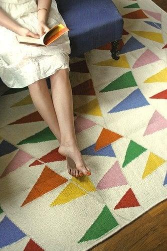 pennant banner rug