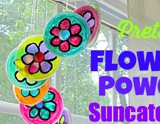 Pretty Flower Power Suncatcher!