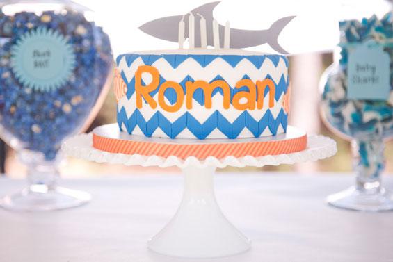 Shark Party Cake