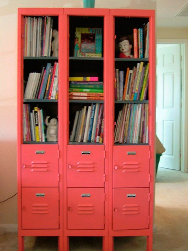 Ordinaire Shelves In Red