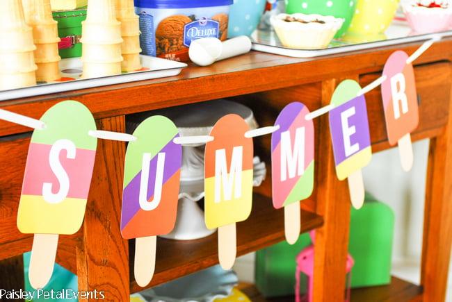 Summer Popsicle Banner