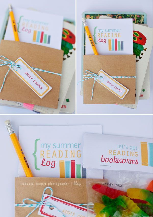 Summer Reading Log with Treats for Classmates
