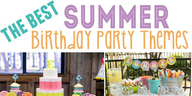 15 best summer birthday party themes design dazzle