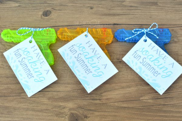 Water Gun tags & gifts for classmates