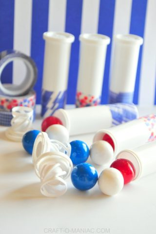 4th of July Gumball Container Poppers!