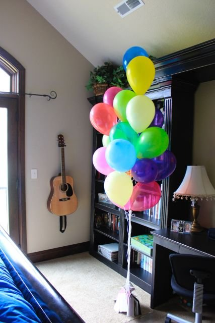 Balloon bouquet with special appeciation notes attached